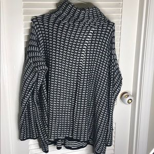 Houndstooth poncho sweater